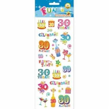 Kado stickersset 30 jaar