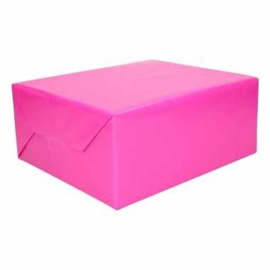 Kadopapier fuchsia roze 200 cm