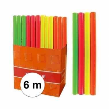 Kaftpapier folie schoolboeken neon oranje 6 meter