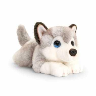 Keel toys pluche grijs/witte husky honden knuffel 32 cm