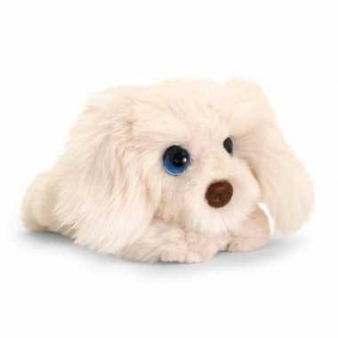 Keel toys pluche witte pup labradoodle honden knuffel 32 cm