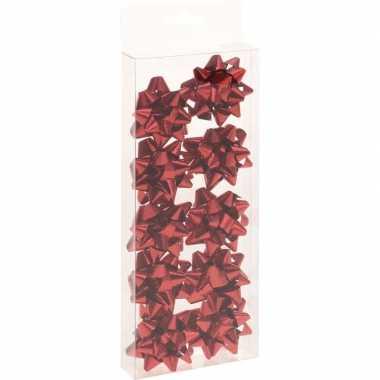 Kerst cadeaustrikjes rood 10 stuks 5 cm