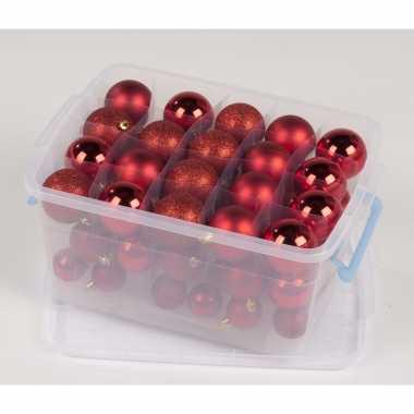 Kerstboom ballen rode 70 stuks