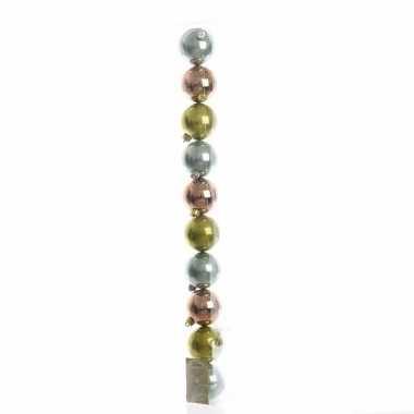 Kerstboomversiering groene ballen 6 cm 10082088