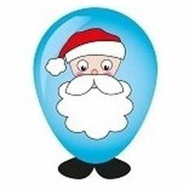 Kerstman ballon versieren 27 cm