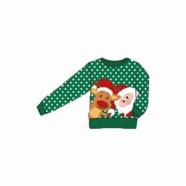 Kerstmis trui met kerstman en rendier voor kinderen