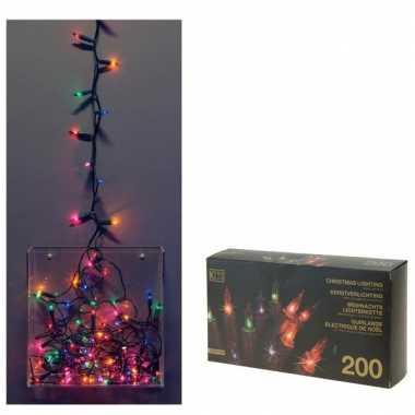 Kerstverlichting 200 Lampjes Gekleurd Multinetwerk Nl
