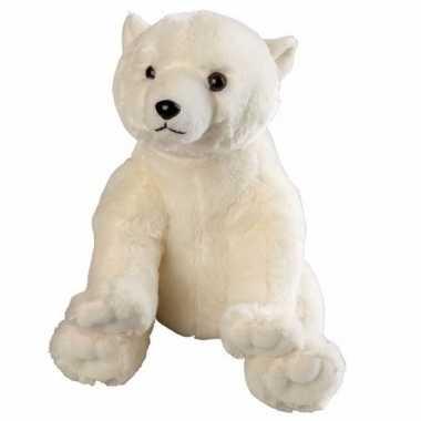 Knuffelbeesten ijsbeer zittend 30 cm