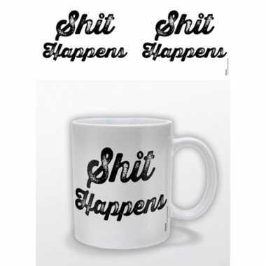 Koffiebeker shit happens