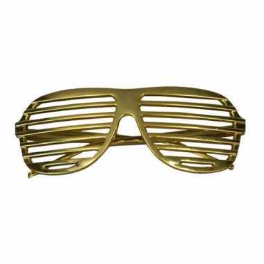 Lamellen funbril in het goud