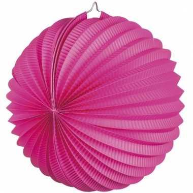 Lampion in fuchsia roze kleur 22 cm