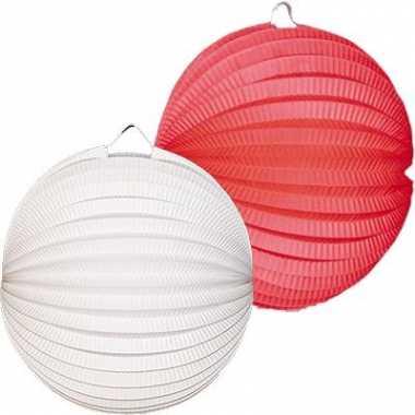 Lampionnen pakket wit en rood