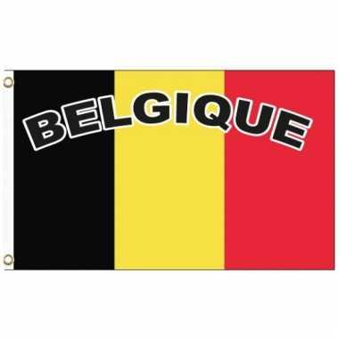 Landen supporter vlag belgie