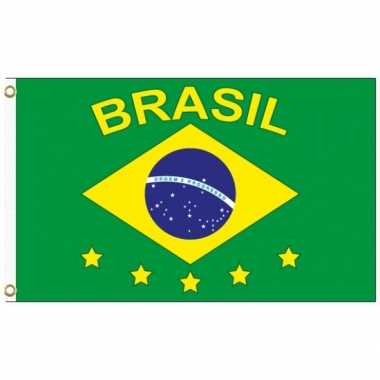Landen supporter vlag brazilie