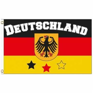 Landen supporter vlag duitsland