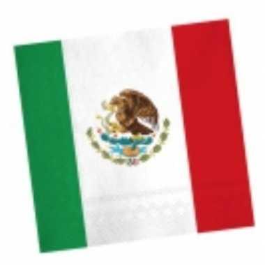 Landen thema versiering mexico servetten 33 cm