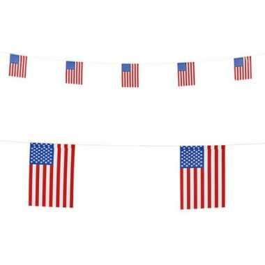 Landen vlaggenlijn amerika 6 meter