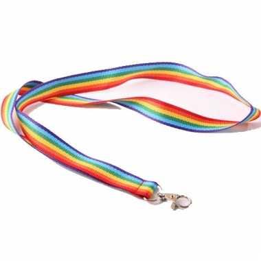 Lanyard regenboog gemaakt van polyester