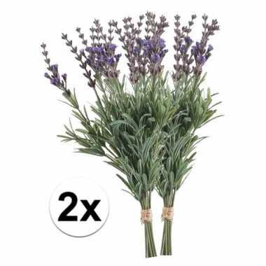 Lavendel op steel bundel 33 cm 2 stuks