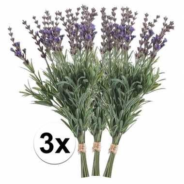 Lavendel op steel bundel 33 cm 3 stuks