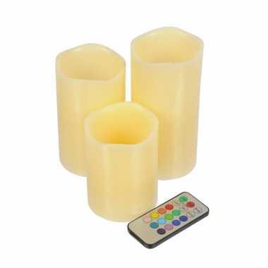 Led kaarsen met afstandsbediening
