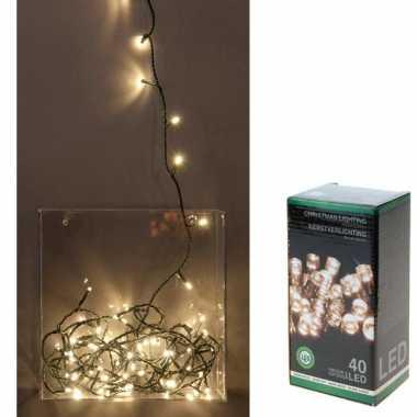 Led kerstverlichting 40 lampjes wit