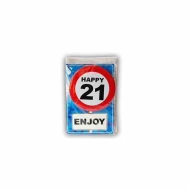 Leeftijd ansichtkaart 21 jaar