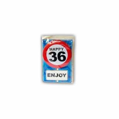 Leeftijd ansichtkaart 36 jaar