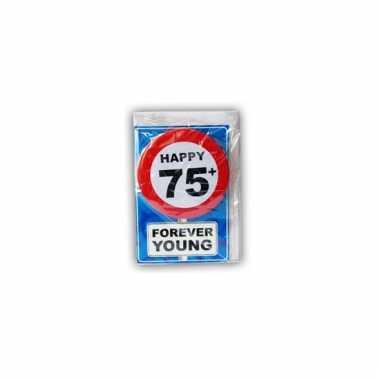 Leeftijd ansichtkaart 75 jaar