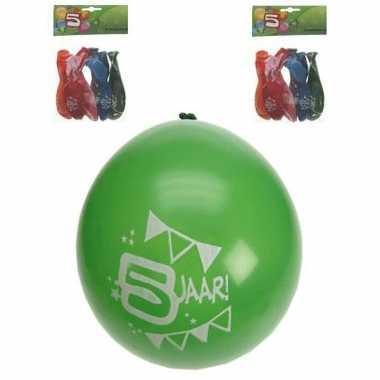 Leeftijd ballonnen 5 jaar 8 stuks