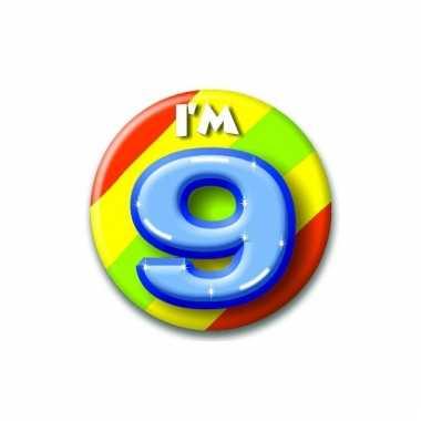 Leeftijd button 9 jaar