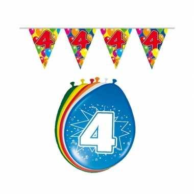 Leeftijd feestartikelen 4 jaar setje