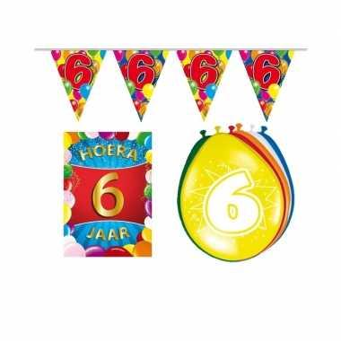 Leeftijd feestartikelen 6 jaar voordeel pakket