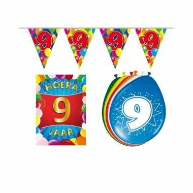 Leeftijd feestartikelen 9 jaar voordeel pakket