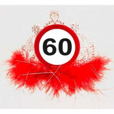 Leeftijd feestartikelen tiara 60 jaar