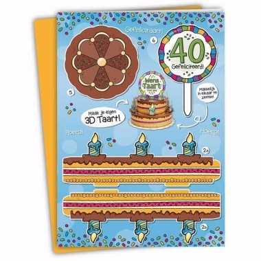 Leeftijd versiering 40 jaar taartkaart xxl