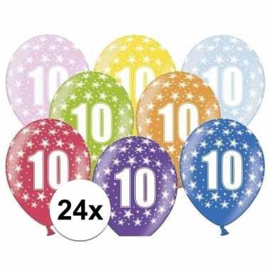 Leeftijd versiering sterren ballonnen 10 24x