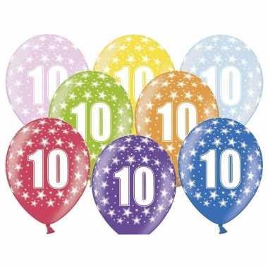 Leeftijd versiering sterren ballonnen 10