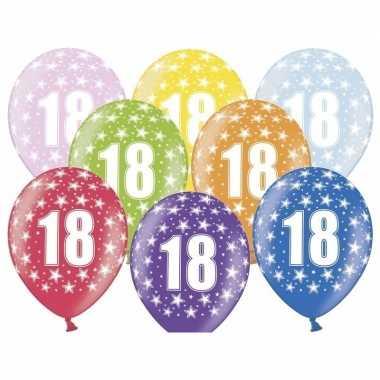 Leeftijd versiering sterren ballonnen 18