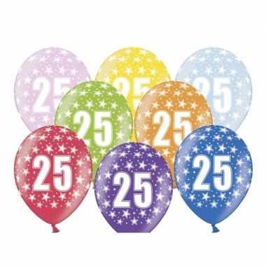 Leeftijd versiering sterren ballonnen 25