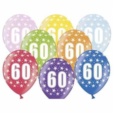 Leeftijd versiering sterren ballonnen 60