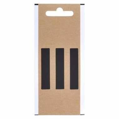 Leesteken sticker koppelteken zwart 5 cm