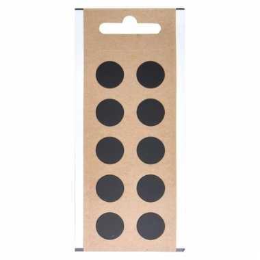 Leesteken sticker punt zwart 1,5 cm