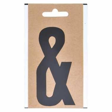 Leesteken sticker &-teken zwart 10 cm