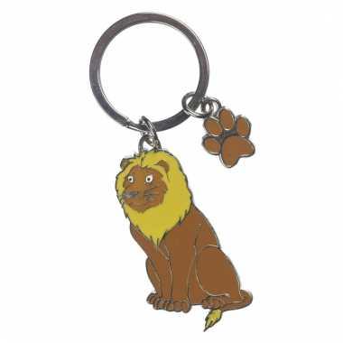 Leeuw sleutel hangertje 5 cm