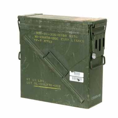 Leger munitiekist gebruikt groen 35 cm