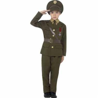 Leger officier verkleedkleding kids