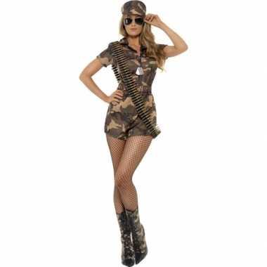 Leger soldaten verkleed jurkje voor dames