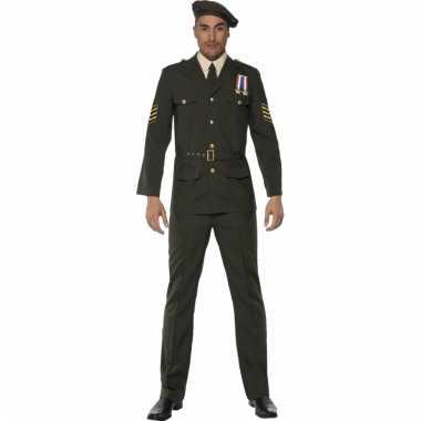 Legerofficier kostuum voor heren