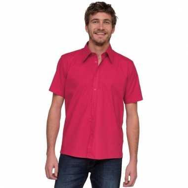 Lemon&soda roze overhemd met korte mouw